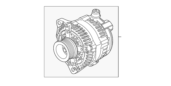 Alternator - Mercedes-Benz (000-154-51-01)