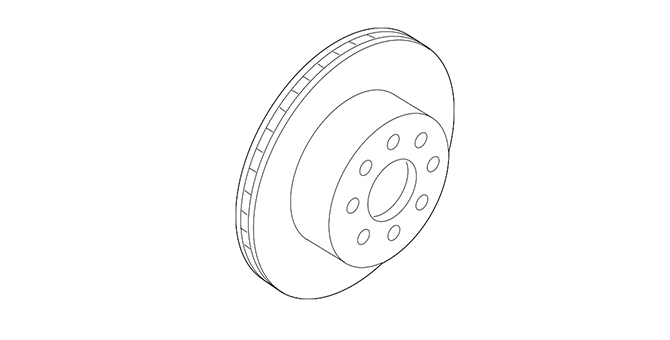 Service Component, Right Front Brake Rotor - GM (23495617)