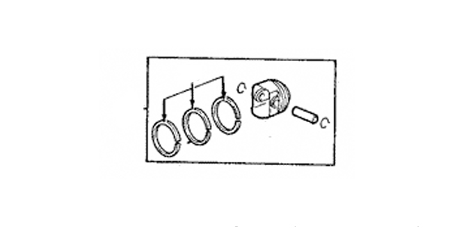 Engine Piston - Ford (4G7Z-6100-BA)