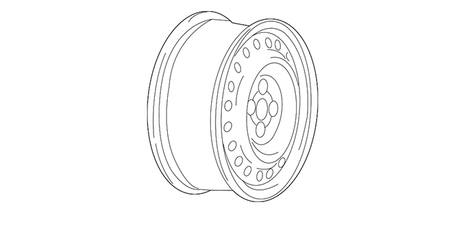 Wheel-Steel - Mopar (52057939AC)